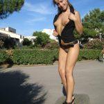 Bottomless Girl Flashing Tits on Streets