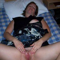 British Naughty Milf Spreading Vagina