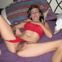 Used Wife's Hairy Cunt in Bed