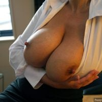 Beautiful Big Natural Round Mature Breasts