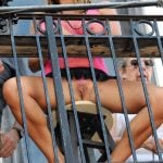 Exposing Pussy on Public balcony Candid