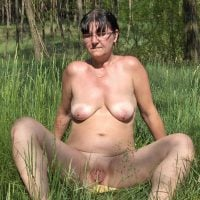 Mature Uglier Wife Naked in the Nature