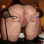 Sexy Lingerie Beautiful Ass & Vagina Spreding Bent Over