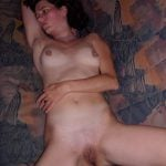 Unhappy Wife Posed Nude on the couch