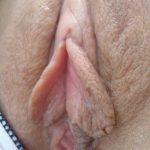 Wet Heart Shaped Labia Close-Up