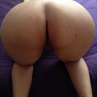 Big Arabian Wife's Naked Booty Up