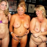 Three Naked Women in a Pub