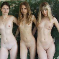3 European Teen Girls Posing Naked