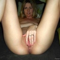 Blonde Hot Wife Spreading Pussy Hole