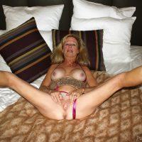 Busty Old Still Hot Slut Spreading Legs and Vagina
