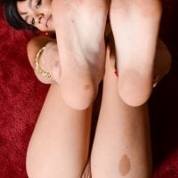 Feet Up North American Shaved Fleshy Vulva