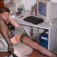 Sexy Secretary Exposing Pussy at the office