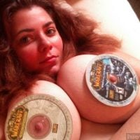 World of Warcraft CDs on Big Boobs