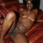 Black Brown African Woman Naked at Home