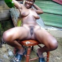 black-caribbean-woman-nude-outside