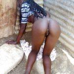 Ebony Thin Girl on all fours ass slave
