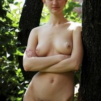 New Model Naked in the Woods Hairy Pussy