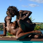 Real Nudist African Black Lesbians Outdoors