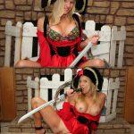 Pirate Girl Costume Sucking Sword Pussy Tits
