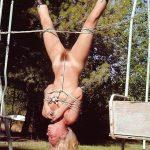 Fetish Tied Naked Girl on Strut
