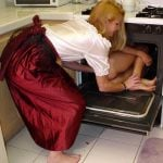 Girl Cooking Nude Girl in the Oven