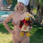 Nude Cook Wife for Thanksgiving Day