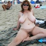 Nudist Mature White Chubby Woman Big Boobs