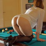 Sexy Rear End Peek on Pools Table