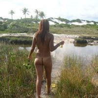 African Naked Woman in the Swamps