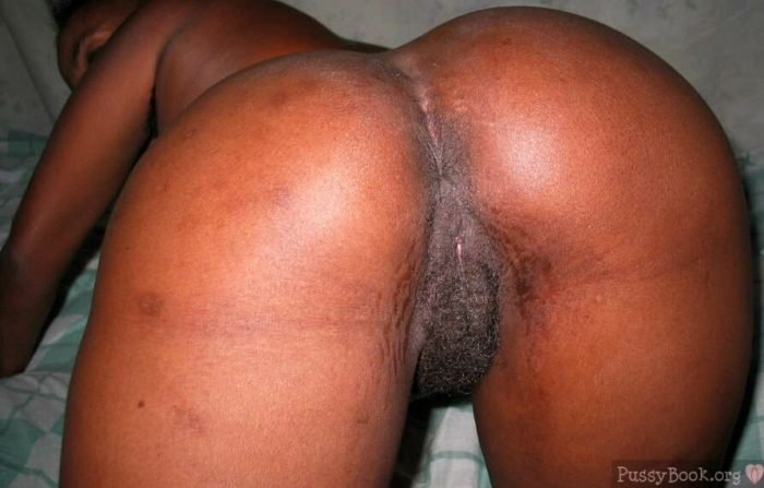 Beautiful Round Dark Big Butt Hairy Pussy