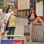 Cutie Flashing Pussy & Tits in Public