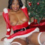 Ebony Santa Woman Pussy & Tits