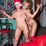 Girlfriend Squeezing Other Tits for Xmas