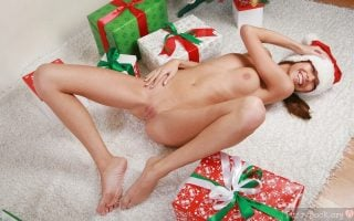 Gorgeous Naked Gal Body with Christmas Presents