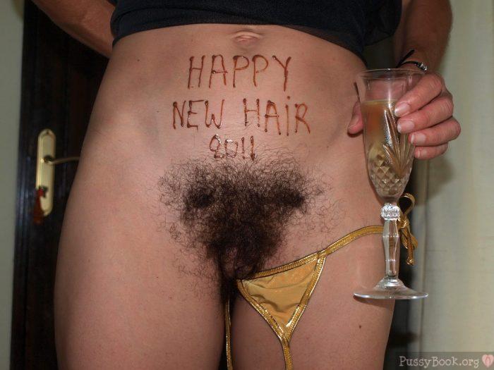 Happy New Year Hairy Pussy