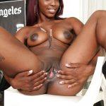 Los Angeles Nude Ebony Woman Spreading Pussy