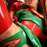 Nasty Colored Latex Girl Pussy Xmas