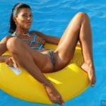 Beautiful Brown Mexican Woman Naked Floating