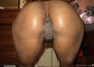 Bent Over African Brown Pussy