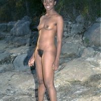 Ebony Nudist Woman Hairy Outdoors