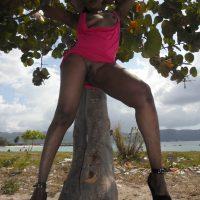 Kenyan Slut Showing Pussy & Tits Outdoors