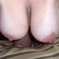 Large Hanging Pear Breasts