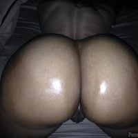 Shiny Round Naked Booty on all fours