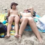 Two Hot Nudist Women on Beach