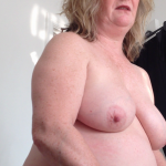 40 inch tits and belly Fat white mature woman