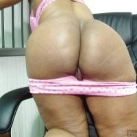 African MILF Kneeling Undressing Black Bum
