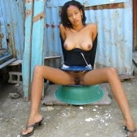 Beautiful Mulatto Teen Breasts and Pussy Exposed