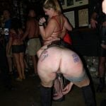 Crazy Slut Bends Over Naked Ass in Club