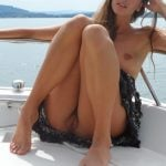 Pussy Upskirt on Boat