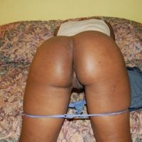 Brown African Woman Bottom Naked